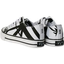 EVH Eddie Van Halen Low Top Sneakers   White with Black Stripes