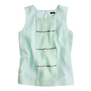 Mint Sparkle row cami   sleeveless   Womens shirts & tops   J.Crew