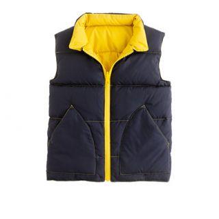 Boys reversible puffer vest   outerwear   Girls Shop By Category   J