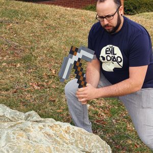 ThinkGeek :: Minecraft Foam Pickaxe