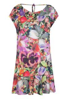Vestido Espaço Fashion Espaço Fashion Love Multicolorido   Compre