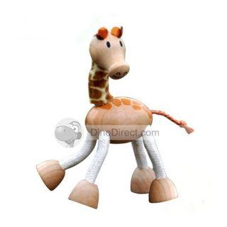 Wholesale ZLF Stylish Giraffe Image Wooden Handmade Puppets