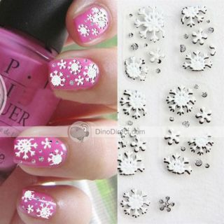 Wholesale Muimes Exquisite Snowflake Shape 3D Nail Art Sticker Decal