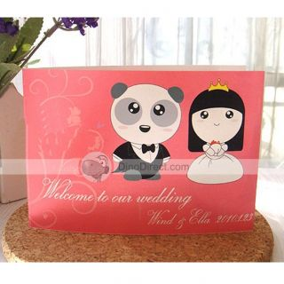 Wholesale Panda Princess Wedding Invitation Cards   DinoDirect