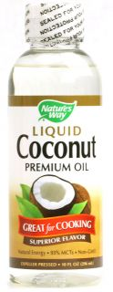 Natures Way Liquid Coconut Premium Oil    10 fl oz   Vitacost