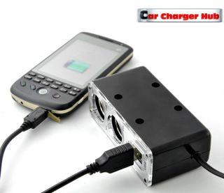 Bil Laddare förgrening 12V USB iPod iPhone GPS Säkring CE m på