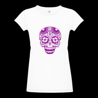 laughing skull in the style of Sugar Skulls T Shirt  Spreadshirt