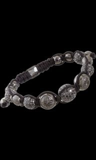 null Black Gold & Black Pave Diamond Bead Bracelet