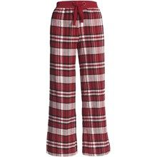 Greetings From Plaid Flannel Pants (For Women) in Red/Black Plaid