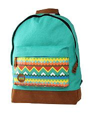 null (Multi Col) Mi Pac Turquoise Tribal Print Backpack  267181399