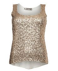 Gold (Gold) Urban Bliss Gold Sequin Front Vest  266010393  New Look