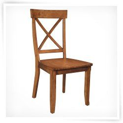 Home Styles Solid Hardwood Side Chair   2 Chairs