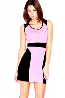 Home  Sale  Dresses  Nina Neon Contrast Panel Bodycon Dress