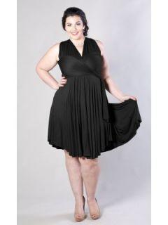 LANE BRYANT   Anastasia Jersey Knit Wrap Dress (Cool Shades) customer
