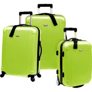 Travelers Choice Freedom 3 Piece Luggage Set   Apple Green (TC2400E
