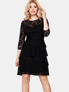 Holly Willoughby Tiered Lace Dress  Very.co.uk