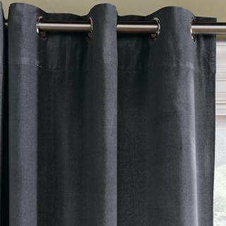 Velvet Grommet Window Panel – Iron  west elm