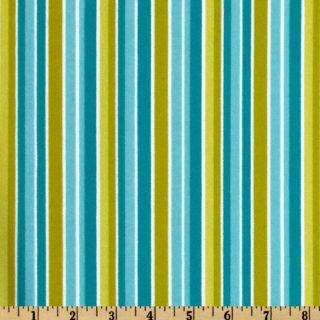 Peak Hour Flannel Stripe Blue   Discount Designer Fabric   Fabric