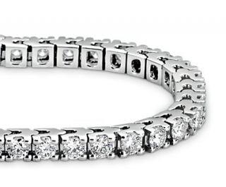 Diamond Tennis Bracelet in 14k White Gold (4 ct. tw.)  Blue Nile
