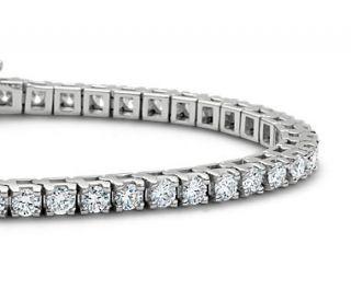 Diamond Tennis Bracelet in 14k White Gold (5 ct. tw.)  Blue Nile