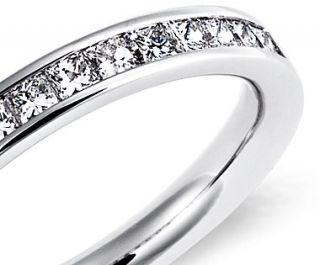 Channel Set Princess Cut Diamond Ring in 14k White Gold (1/2 ct. tw