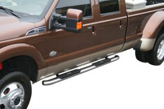 Aries Oval Nerf Bars Black powder coated carbon steel Polished T304