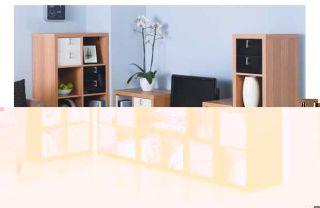 Hygena Misaki Modular Double Wide Bookcase   Oak Effect. from Homebase