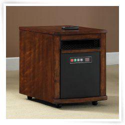 Twin Star 6 Element Infrared Quartz Power Heater   Cherry
