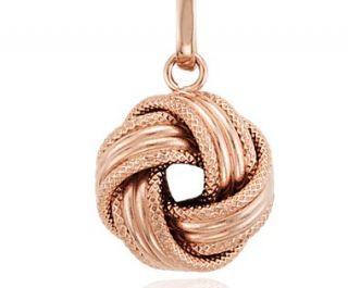 Grande Love Knot Pendant in 14k Rose Gold  Blue Nile