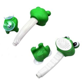 Cute Green Frog A Grade ABS Hand Held Bathroom Shower Head with
