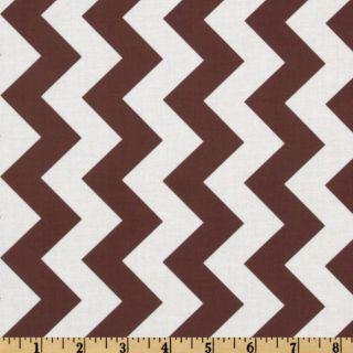 Riley Blake Chevron Medium Brown   Discount Designer Fabric   Fabric