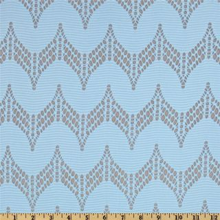 Laser Cut Knit Light Blue   Discount Designer Fabric   Fabric