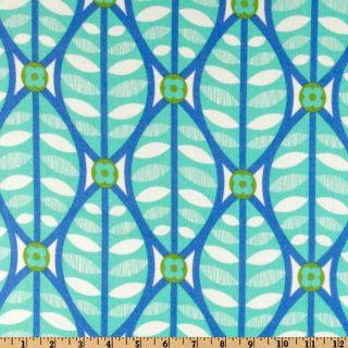 Greenhouse Flannel Buttonwood Aqua   Discount Designer Fabric