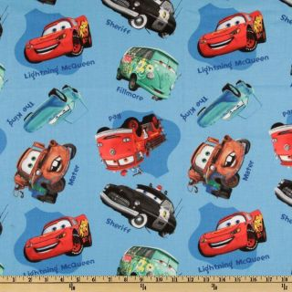 Cars Allover Blue   Discount Designer Fabric   Fabric