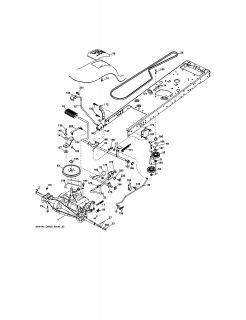 Model # 917276845 Craftsman Tractor Schematic diagram (8 parts)