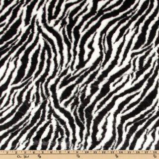 Minky Cuddle Plush Zebra Black/White   Discount Designer Fabric