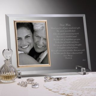 3143   Dear Mom Poem Personalized Glass Frame