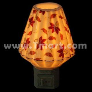 Flower Folding Shade Ceramic Night Light   Tmart