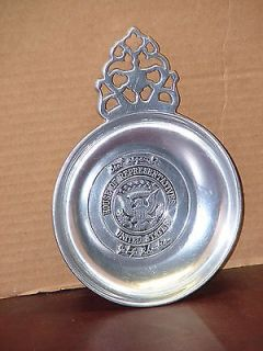 RHODES US HOUSE OF REPRESENTATIVES PEWTER CHANGE ASHTRAY GERALD FORD