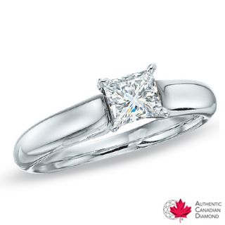 CT. Certified Canadian Princess Cut Diamond Solitaire Engagement