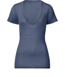 Splendid Bluesteel V Neck Top  Damen  T Shirts