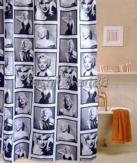 Pop Art Girl Marilyn Monroe Picture Design Bathroom Fabric Shower