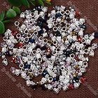 40Pc Mix Color Dangle Rondelle Crystal Glass Faceted European Bead Fit