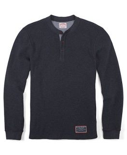 Cotton Waffle Henley   Brooks Brothers