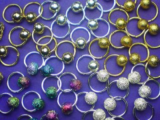 Nail Art Dangles *Gold & Silver* Plated Mix Nail Art Rings UK Seller