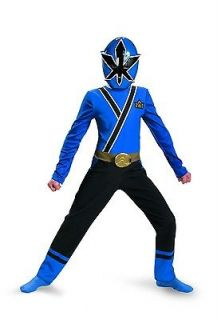 Power Ranger Blue Ranger Samurai Classic Costume Child Small 4 6 *New*