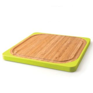 Square Bamboo Silicone Cutting Board at Brookstone—Buy Now