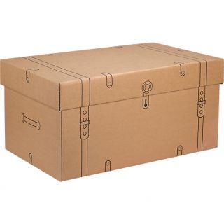 cardboard storage trunk in storage  CB2