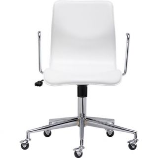 bubble white leather office chair in office furniture  CB2