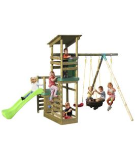 Little Tikes Buckingham Climb and Slide Swing Set   outdoor play